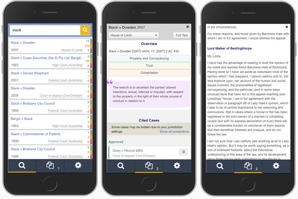 Justis Legal technology roadmap - Mobile