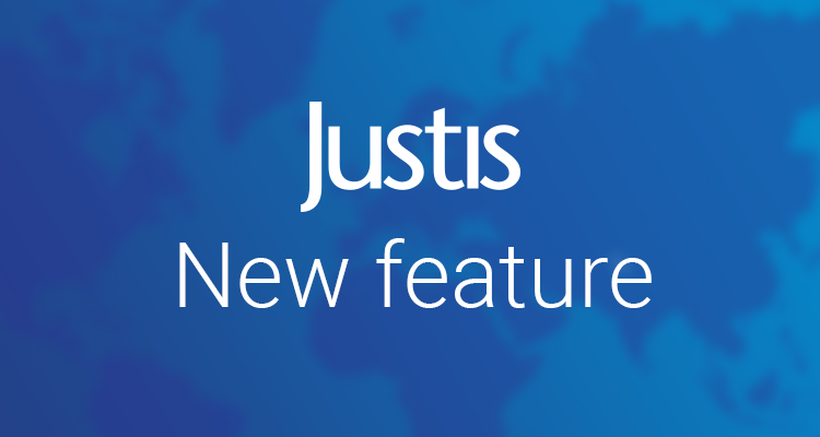 JustisOne new feature