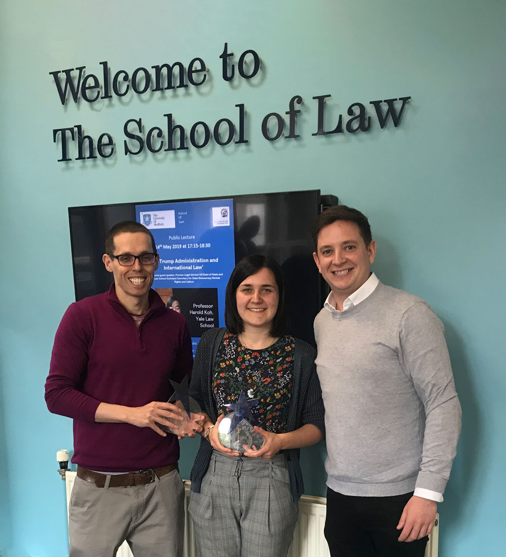 Justis International Law & Technology Writing Competition 2019 award presentation